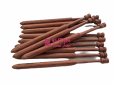 Bobbins bubinga wood 13cm with round top.